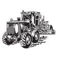construction tractor car vector image