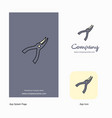 cutter company logo app icon and splash page vector image vector image