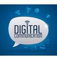 Digital communication design vector image vector image