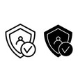 digital shield protect line and glyph icon shield vector image vector image