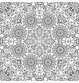 doodle ornamental pattern with flowers vector image vector image