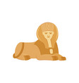 egypt sphinx famous historical landmark flat vector image