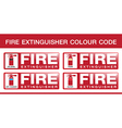 Fire Extinguisher Colour Code vector image vector image