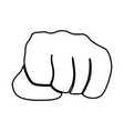 fist black icon vector image
