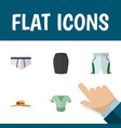 flat icon clothes set of stylish apparel casual vector image vector image