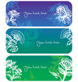 flowers banners vector image vector image