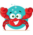 funny red crab cartoon vector image