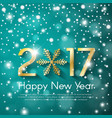 golden new year 2017 concept on turquoise snow vector image vector image