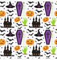 halloween seamless pattern scary repeating vector image vector image