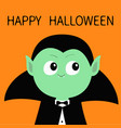 happy halloween count dracula wearing black cape vector image