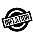 inflation rubber stamp vector image vector image