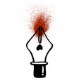 ink pen icon hand drawn grunge fun hipster ink vector image vector image