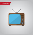 isolated old tv flat icon television vector image