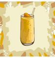 mango peach banana citrus tropical smoothie vector image vector image