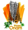 Meenakshi temple in Onam celebration background vector image vector image