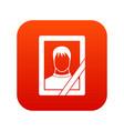 memory portrait icon digital red vector image vector image