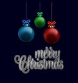 merry christmas glowing ball background vector image