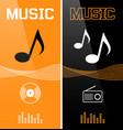 music banner or flyer design vector image