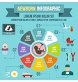 newborn infographic elements flat style vector image