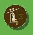 paper sticker on theme of andorra ski resort logo vector image vector image