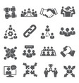partnership icons set on white background vector image vector image