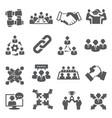 partnership icons set on white background vector image