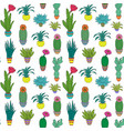 pattern with houseplant vector image vector image