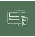 Responsive web design icon drawn in chalk vector image vector image