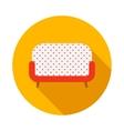 Retro sofa icon flat style vector image vector image