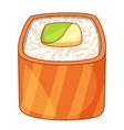 Roll with salmon icon cartoon style vector image vector image