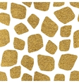 Seamless background of golden mosaic spots vector image