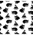 semless background of the black cats vector image vector image