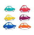 set of funny and different colored cars vector image