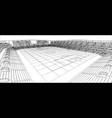 sketch of football stadium vector image vector image