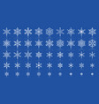 snowflake simple white line icons set vector image