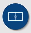 soccer field white contour icon in dark vector image vector image
