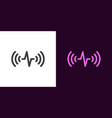 sound wave voice assistant vector image
