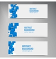square Abstract background card blue vector image vector image