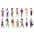 stylized characters adult people set group vector image
