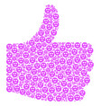 success shape of lady love smiley icons vector image