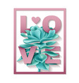succulent love frame vector image