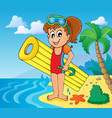 summer water activity theme 6 vector image vector image