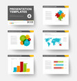 template for presentation slides 4 vector image vector image