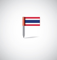 thailand flag pin vector image