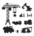 under construction technic silhouette vector image