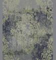 vintage damask card background luxury vector image vector image
