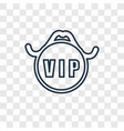 vip concept linear icon isolated on transparent vector image vector image