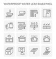 waterproof water leak icon vector image vector image