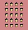 emotional faces set vector image
