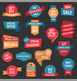 discount icons big sale banners and labels vector image